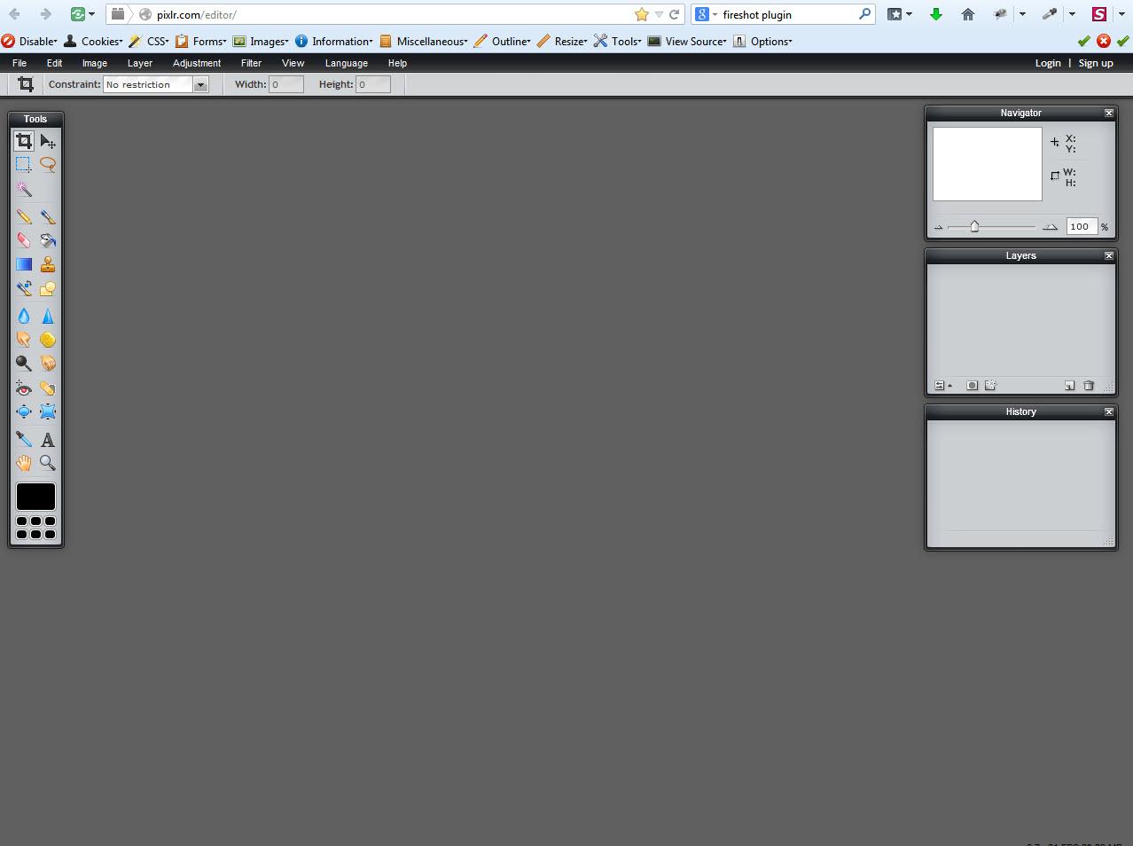 Pixlr Image Editing