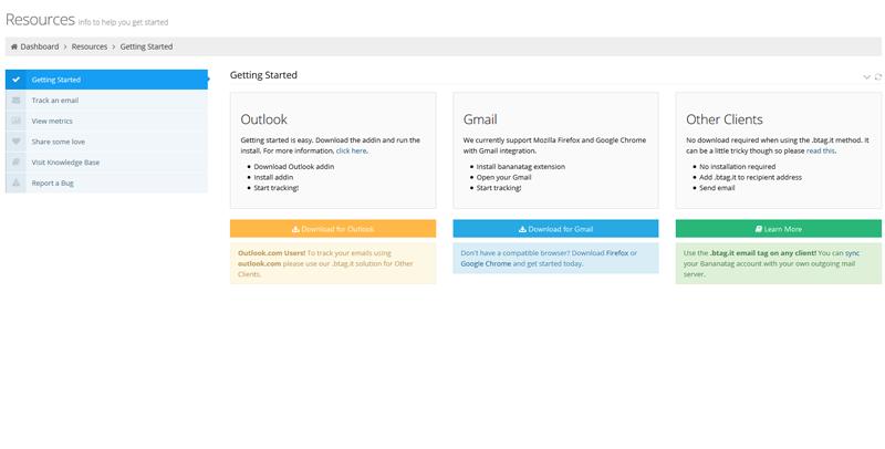 Banana Tag email tracking program